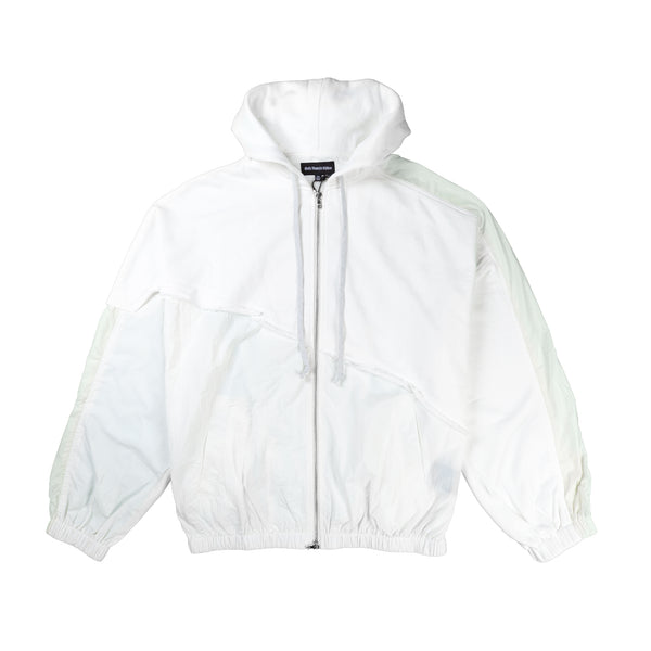 Terry mix color block jacket