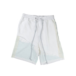 Terry mix color block short