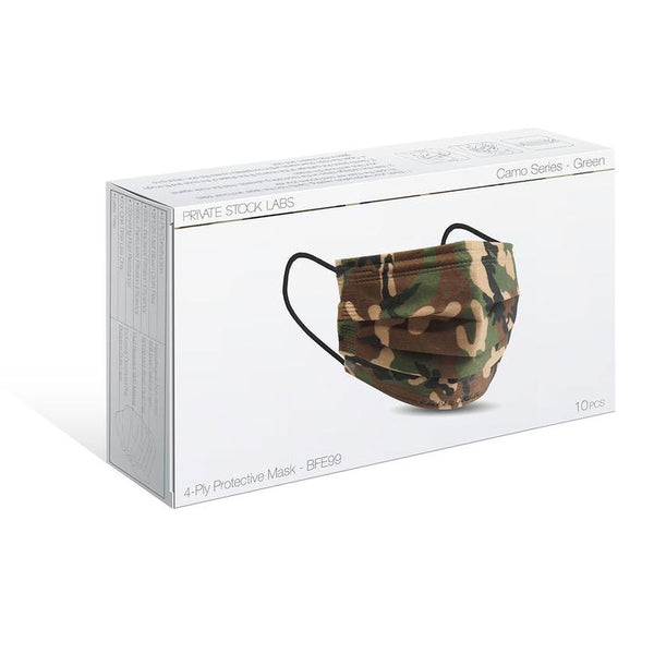 PSL 4-Ply Protective Mask: Camo Series - JUNGLE (Pack of 10)