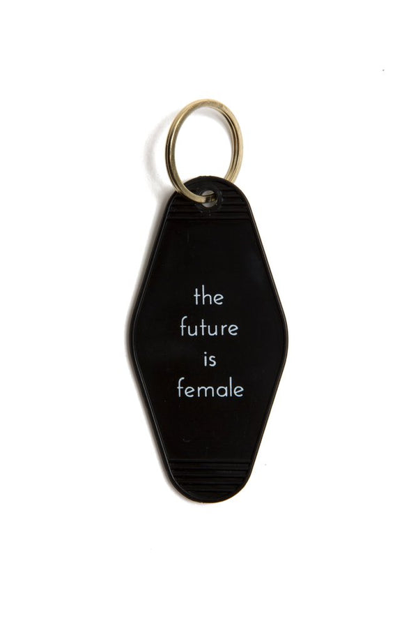 The future is female Motel keytag