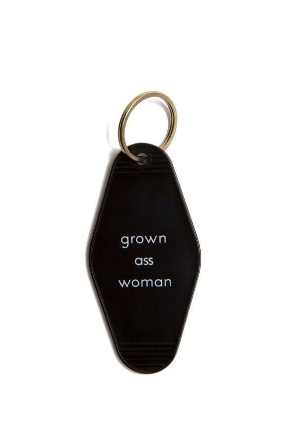 Grown ass woman Motel keytag