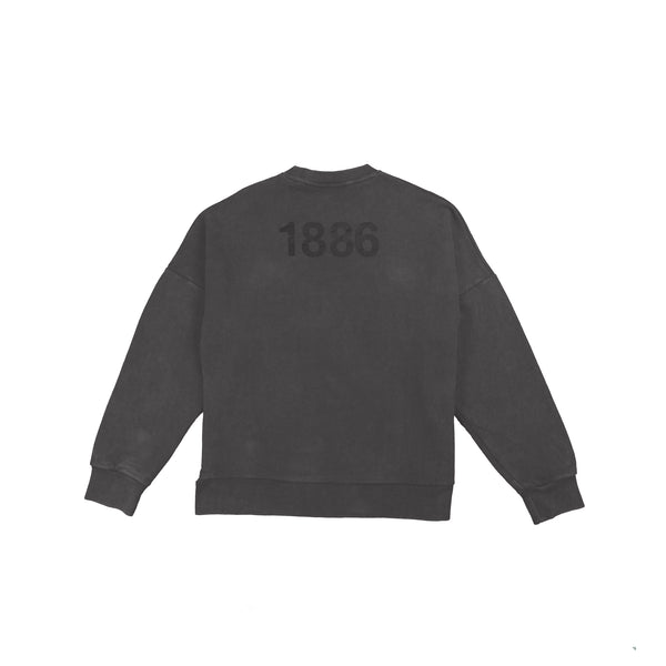 Plain dark grey jumper