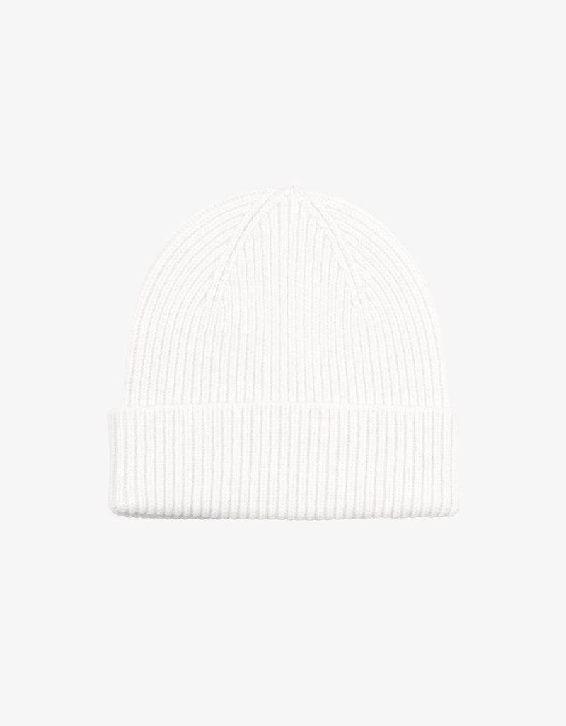 Merino Wool Beanie Optical White
