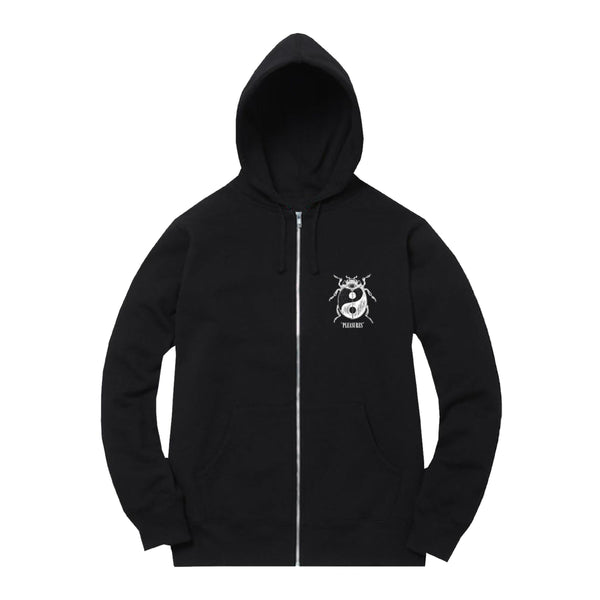 BLACK BUG ZIP UP HOODIE