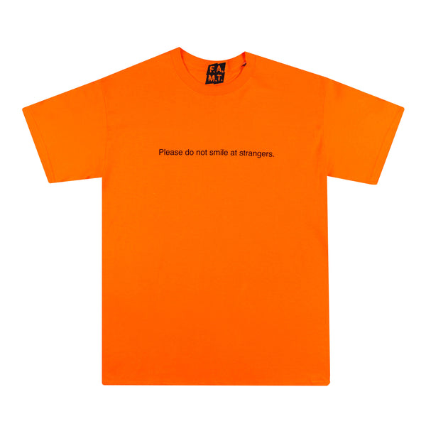 PLEASE DO NOT SMILE AT STRANGERS SUNSET T-SHIRT