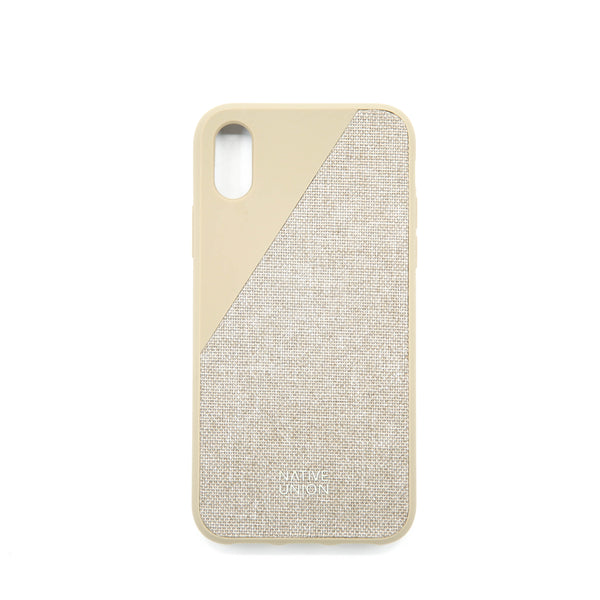 CLIC CANVAS-IPHONE X CASE TAUPE