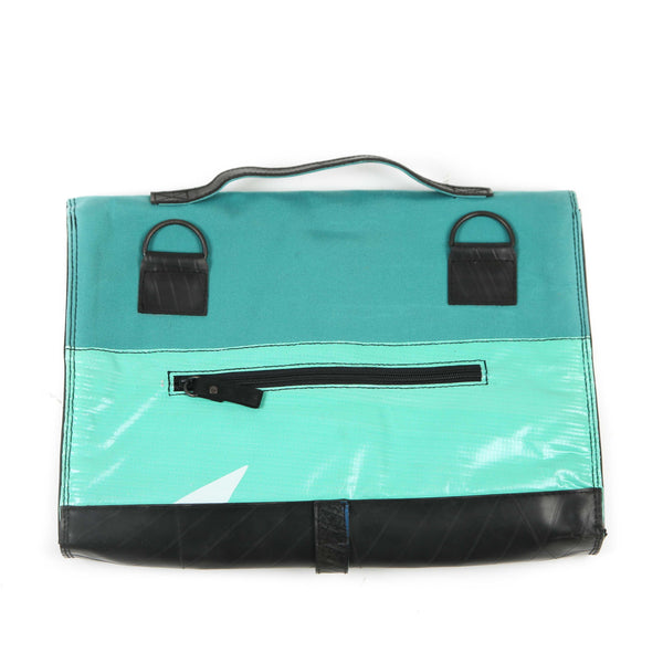 Briefcase Green (newspaper print)