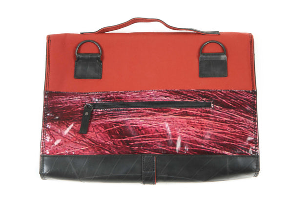 Briefcase Maroon and black