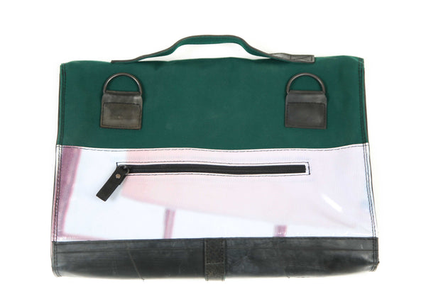 Briefcase Dark green (way print)