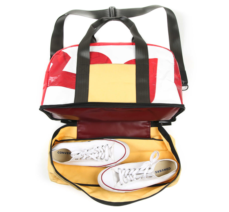 Weekender Yellow red and white