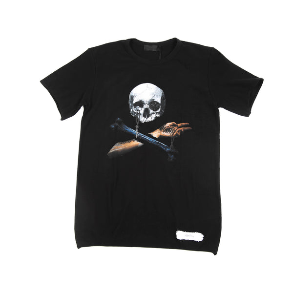 KNITTED T-SHIRT WITH SKULL PRINT