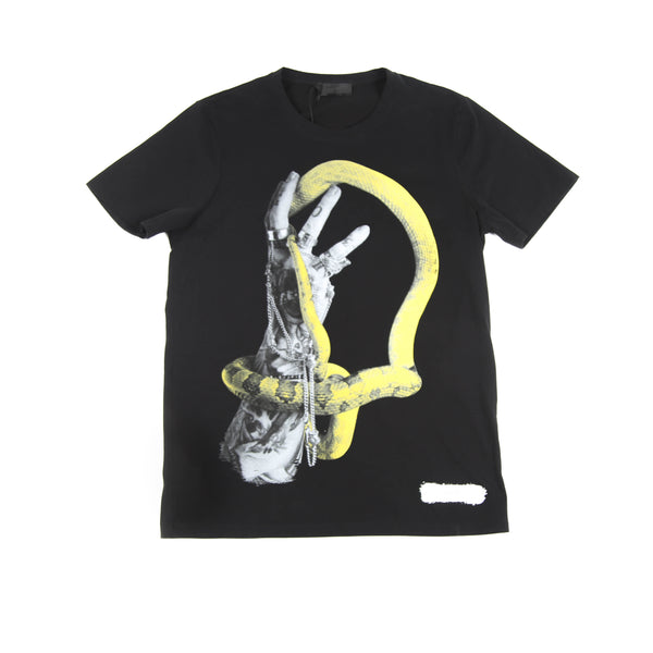 YELLOW SNAKE PRINTED T-SHIRT