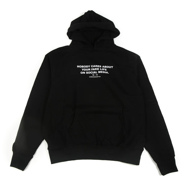HUMAN SOCIETY NO BODY CARES HOODIE