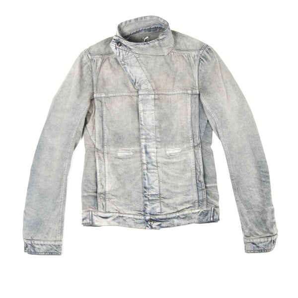 RICK OWENS 2750HU DENIM SLAV JACKET