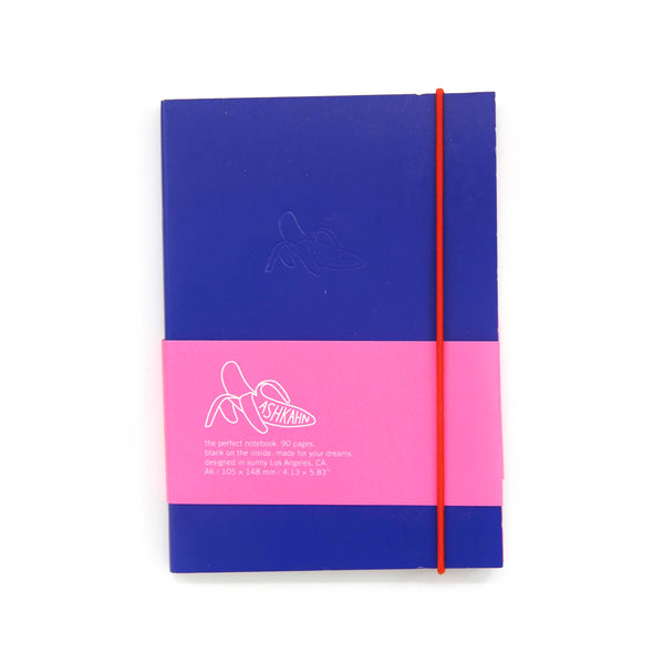 Blue red band notebook