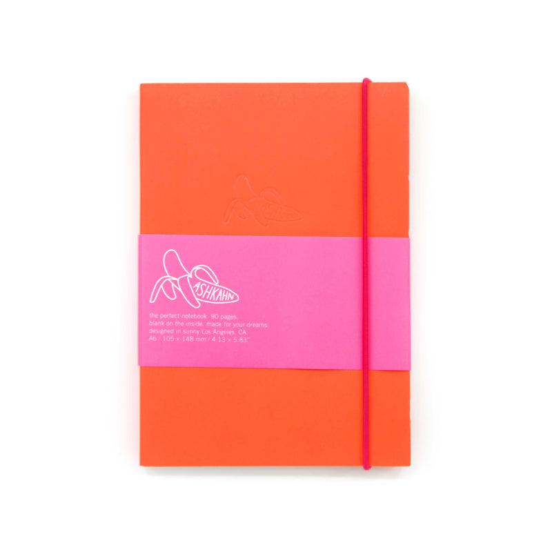 Red pink band notebook