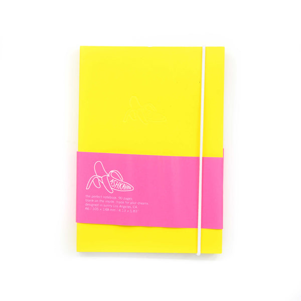 Yellow white band notebook