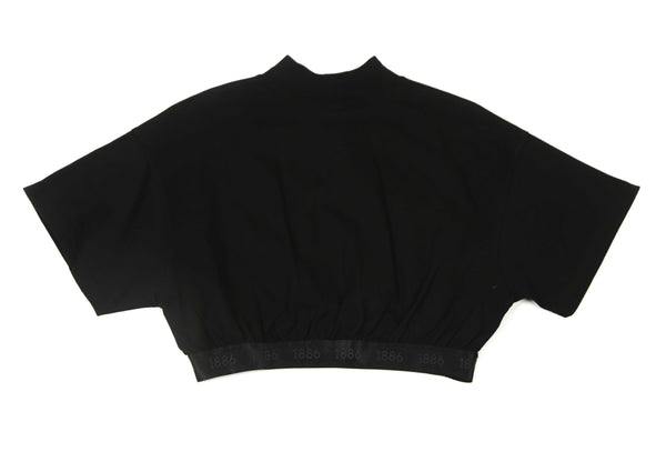 Lady High Neck Croptop Black