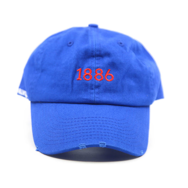 Blue washed frayed Baseball cap