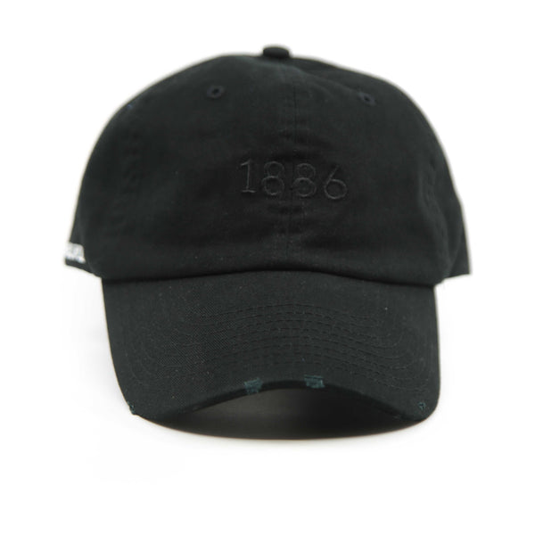 Black washed frayed Baseball cap