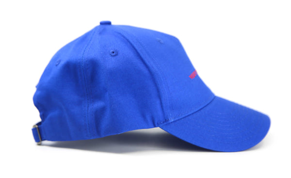 Blue 5 panel Baseball cap