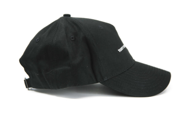 Black 5 panel Baseball cap