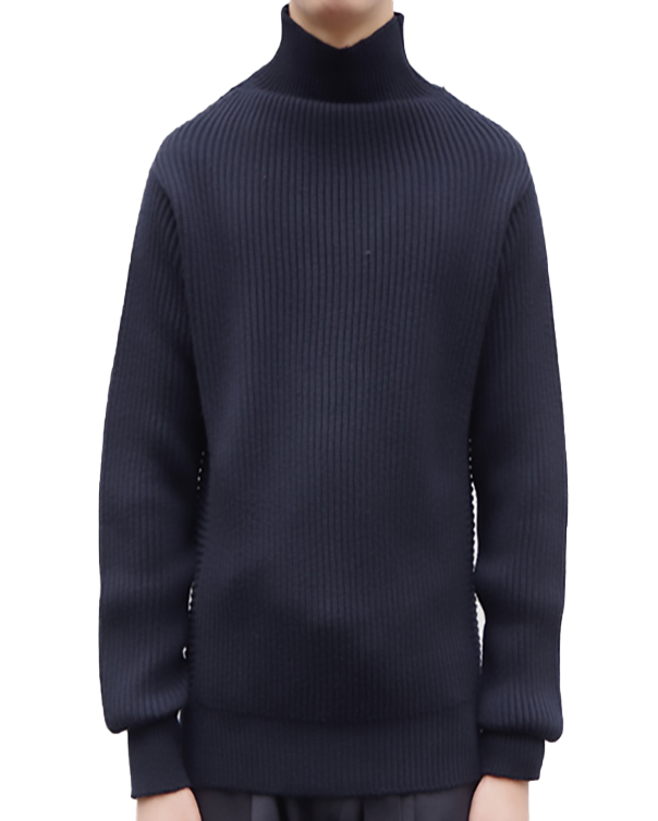 MAISON FLANEUR TURTNECK SWEATER BLUE