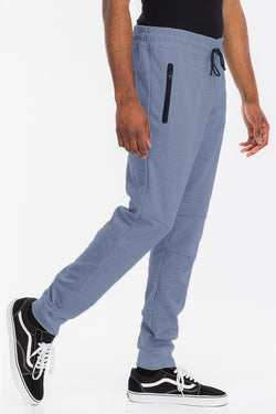 Velcro back pocket elastic waist and ankle drawstring