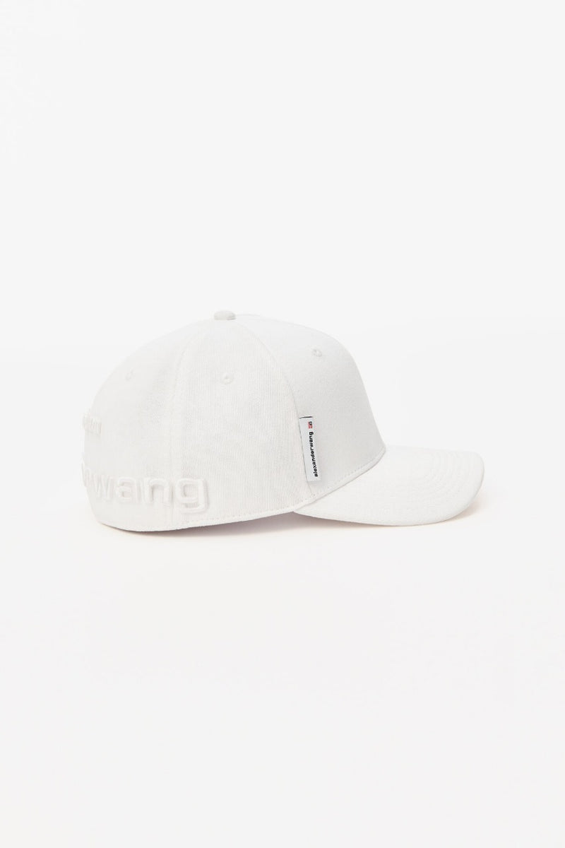 WHITE BASEBALL CAP WITH LOGO EMBROIDERY