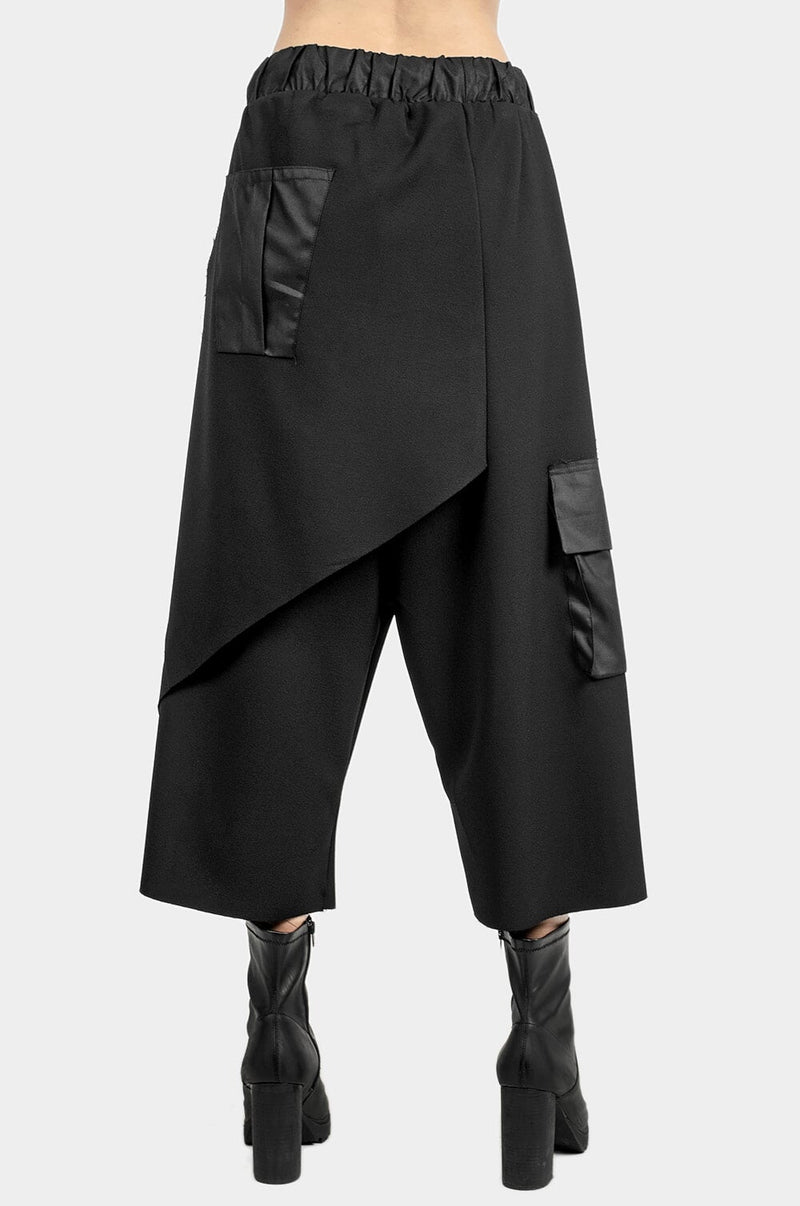 "Layered Asymmetric Skirt Pants ""Spiral"""