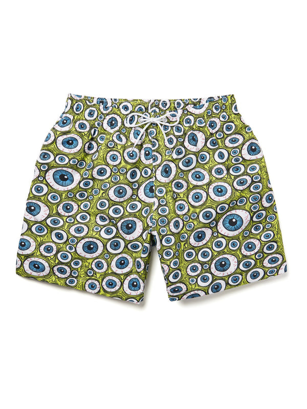 FOS GREEN S2M SWIM SHORTS