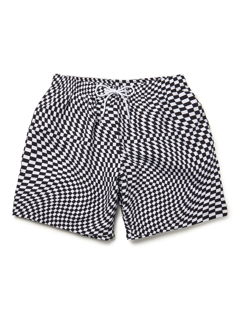 BOARDIES WARPED CHECK 9M SWIM SHORTS