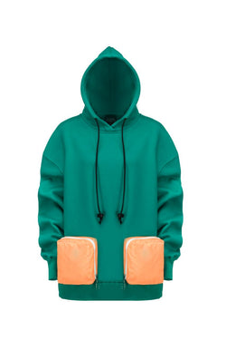 Double pocket green Hoodie