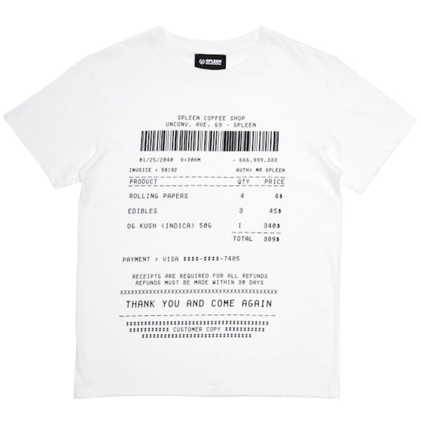 COFFEE SHOP RECEIPT T-SHIRT