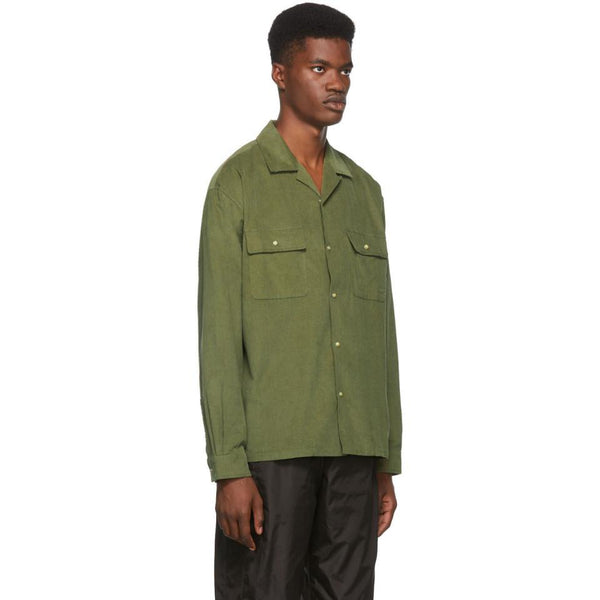Corduroy snap shirt