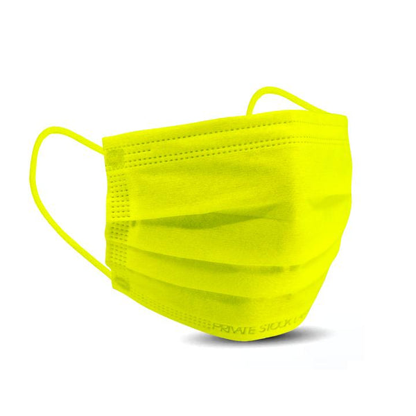PSL 4-Ply Protective Mask - Neon Series - Lime (Pack of 10)