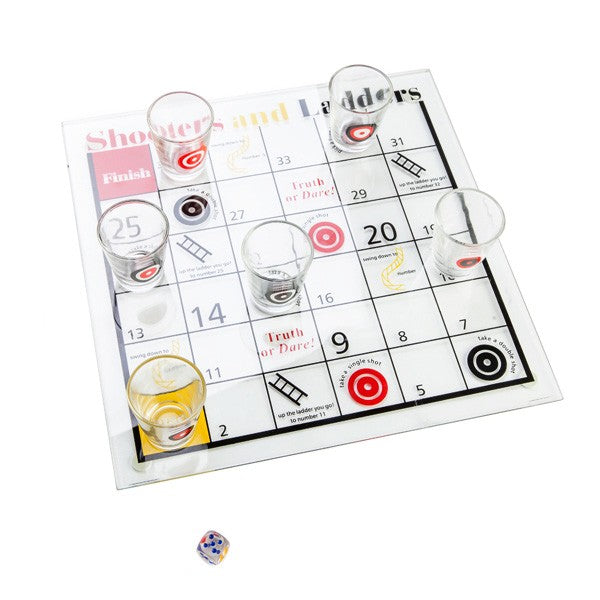 Shooters and Ladders Drinking Board Game
