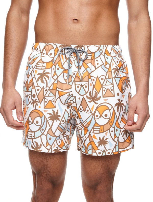 Boardies Don Pendleton owl Shortie swim short