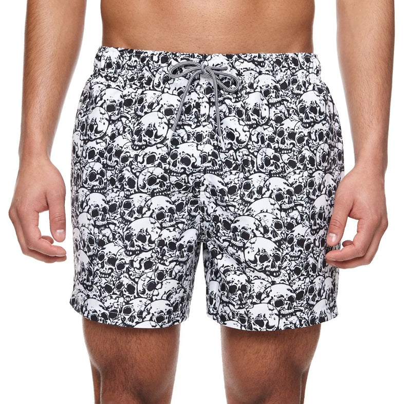 Boardies Skulls Mid length swim short