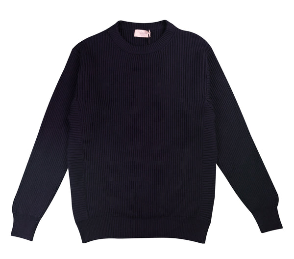 MAISON FLANEUR CREW-NECK SWEATER BLUE