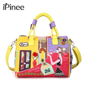 Candy Color Italian Style Leather Tote Bag
