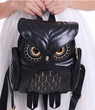 Owl Leather Backpack (Golden Plated Eyes)