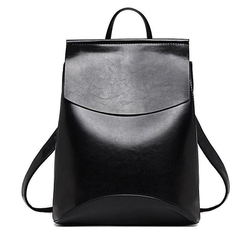 Leather apparel backpack