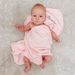Personalised Embroidered  Pink Hooded Towel