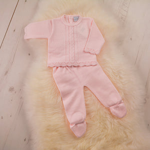 Two Piece Knitted Set - Pink