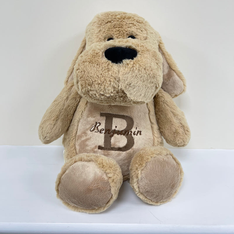 Personalised Mumbles Zippie Puppy Plush Toy