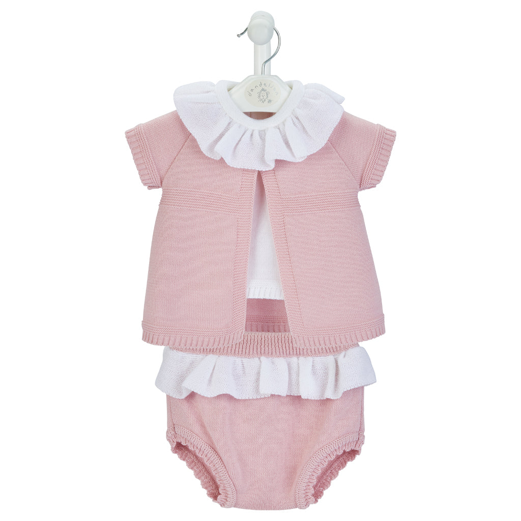 Dusty Pink 3 Piece Knitted Set
