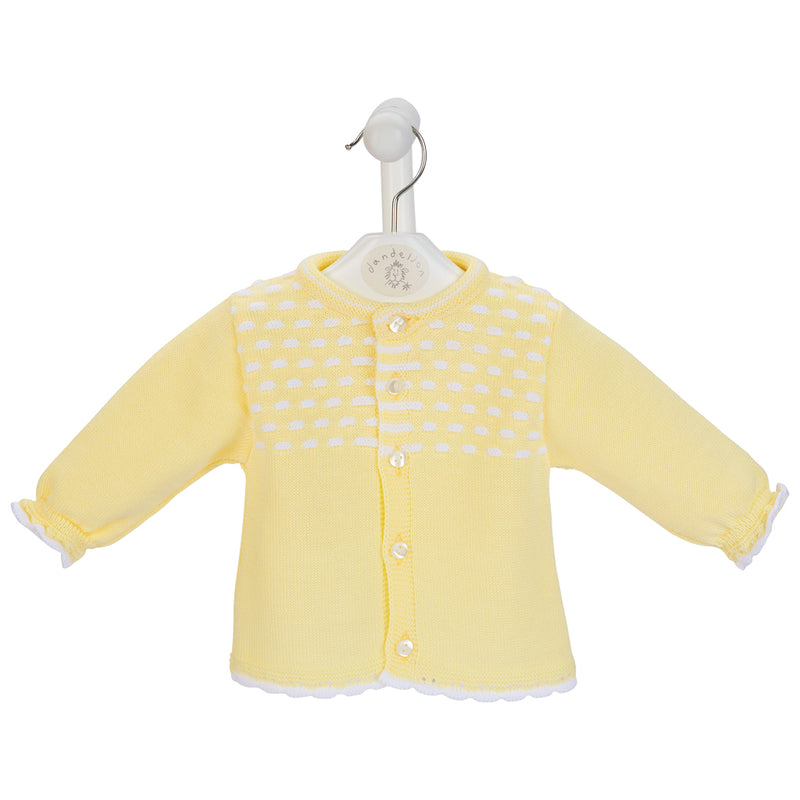 Lemon Dash Knitted Cardigan
