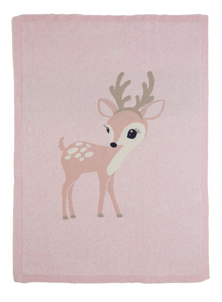 Felicity Fawn Knitted Blanket