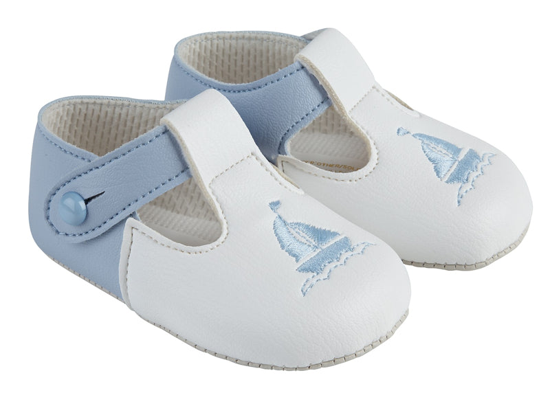 Blue & White Contrast Sailor Soft Sole Shoe